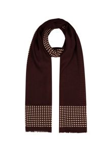 Claret and Ivory Spotted Scarf