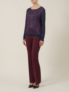 Claret Bootleg Trousers