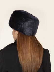 Navy Fur Cossack Hat