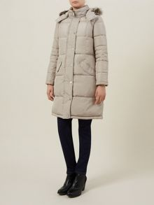 Mid Fur Collar Coat