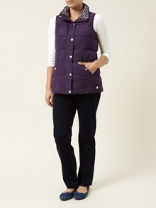 Quilted Purple Gilet