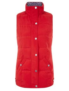 Quilted Red Gilet