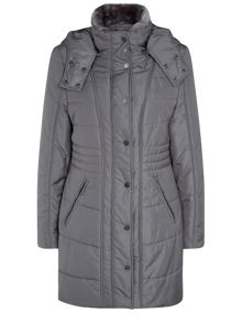 Grey Padded Coat