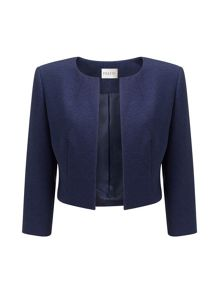 Precis Petite Samantha Navy Textured Jacket
