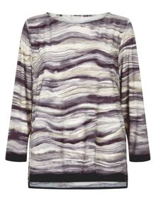 Marble Print Jersey Tunic