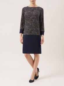 Tweed Jersey Dress