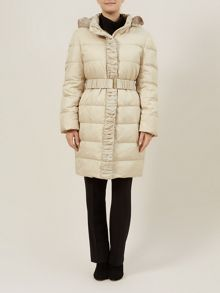 Champagne Ruched Padded Coat