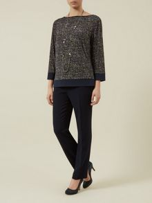 Jersey Tweed Tunic Top