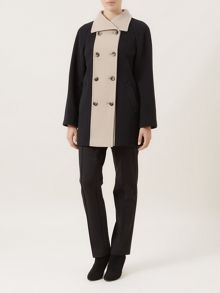 Camel & Black Contrast Coat