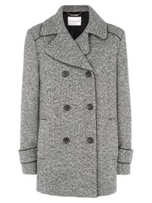 Multi-tone Tweed Coat