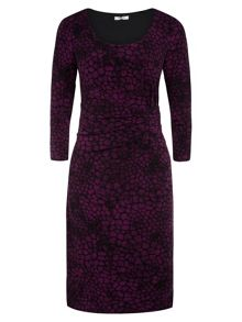 Plum Animal Print Dress