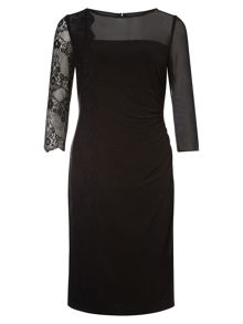 Black Lace Panel Dress
