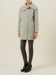 Ivory Shawl Collar Coat