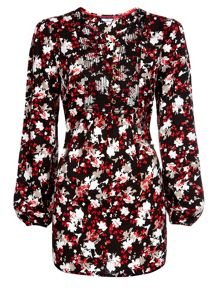 Winter Floral Tunic