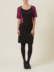 Colourblock Ponte Dress