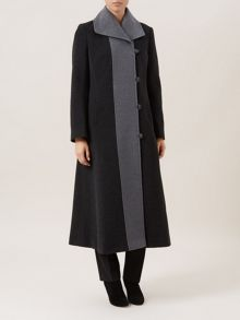 Long Contrast Coat