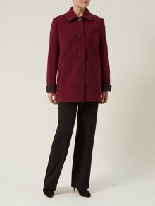 Mulberry Tweed Coat