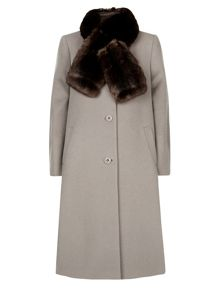 Mid Length Fur Coat