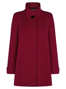 Short Red Swing Coat