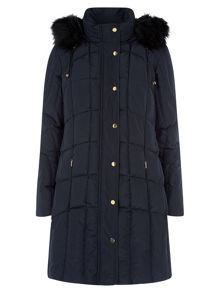 Navy Circle Quilting Coat
