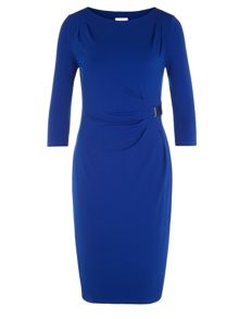 Cobalt Buckle Dress