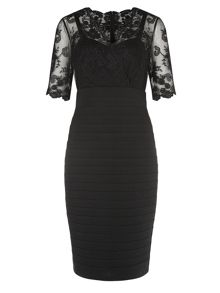 Black Lace and Jersey Dress