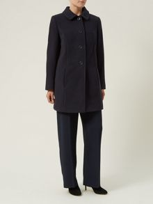 Navy Mid-Length Coat