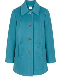Eastex Teal Short Coat