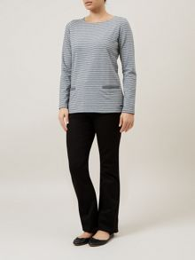 Lurex Stripe Pocket Top