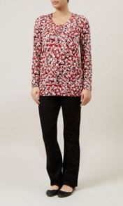 Animal Printed Jersey Top