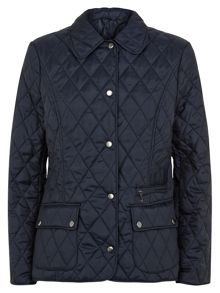 Short Navy Quilted Jacket