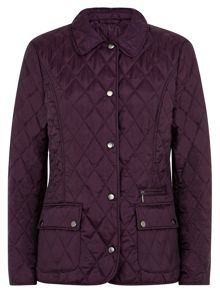 Short Purple Quilted Jacket
