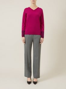 Silver-Grey Straight Leg Trouser