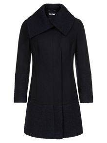 Navy Textured Coat