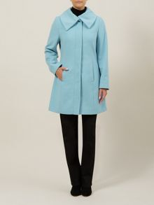 Pastel Blue Collar Coat