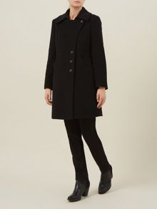 Black Asymmetric Coat