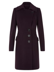 Mulberry Asymmetric Coat