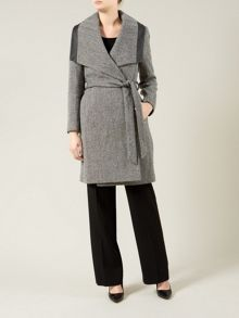 Textured Belted Coat