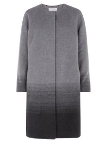 Ombre Collarless Coat