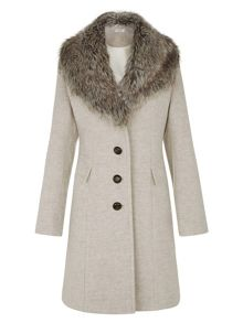 Kaliko Mulberry A-line Coat