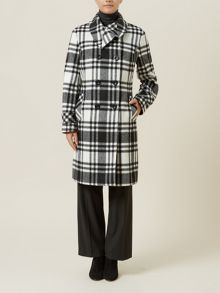 Check Wool Coat