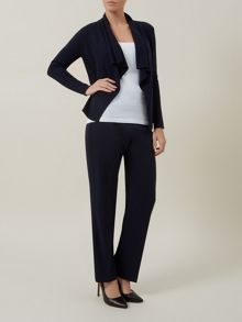 Navy Crepe Trousers