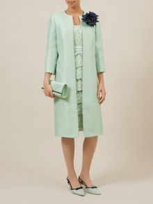 Corsage Trim Occasion Coat