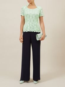 Scoop Neck Strecth Lace Top