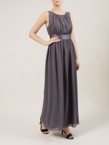 Charcoal Ruched Maxi