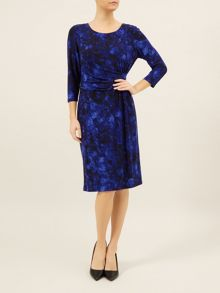 Cobalt Rose Print Dress