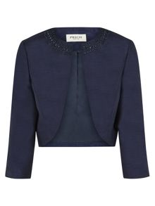 Navy Embellished Jacket