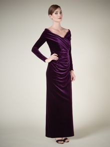 Lorcan Mullany Claret Asymmetric Gown
