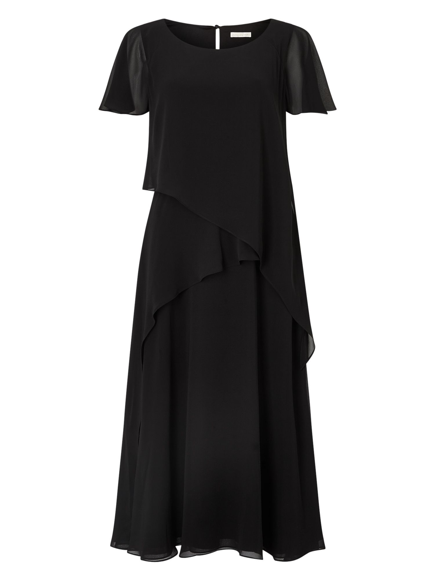 Jacques Vert Soft Tie Detail Dress, Black