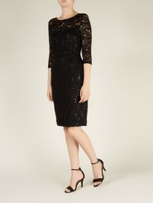 Black Sparkle Lace Dress